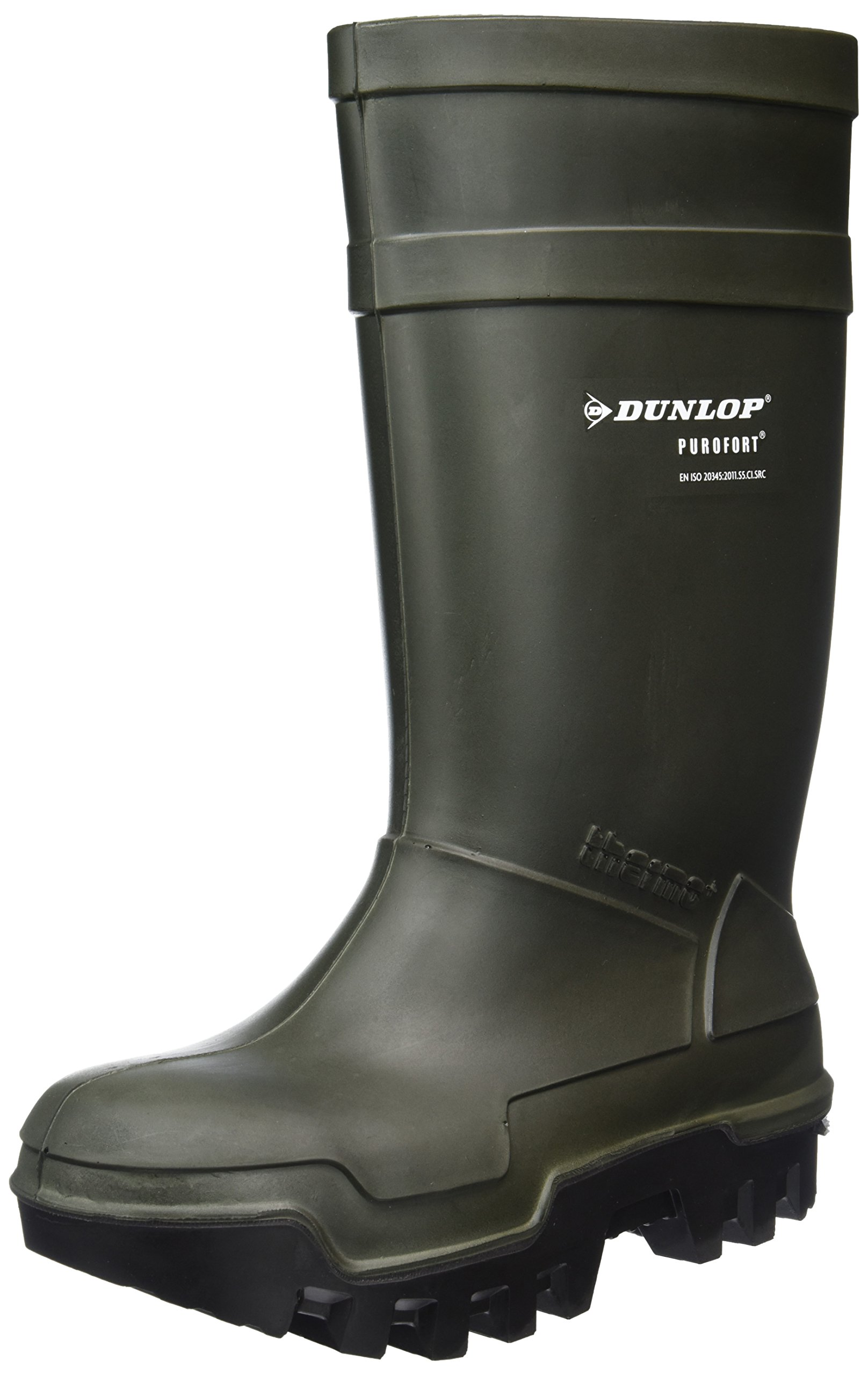 Dunlop PUROFORT THERMO+C662933 Mens S5 CI SRC Safety Wellington Boots Green 44
