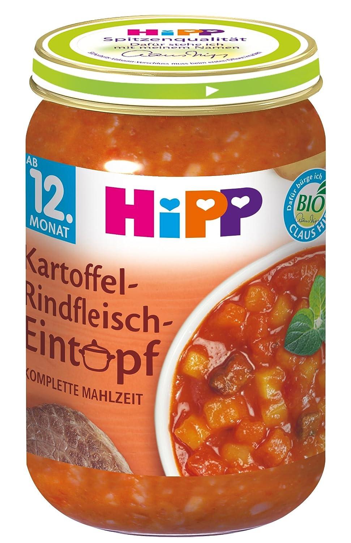 HiPP Kartoffel-Rindfleisch-Eintop, 6er Pack (6 x 250 g) 8626 Baby Eintopf Kind