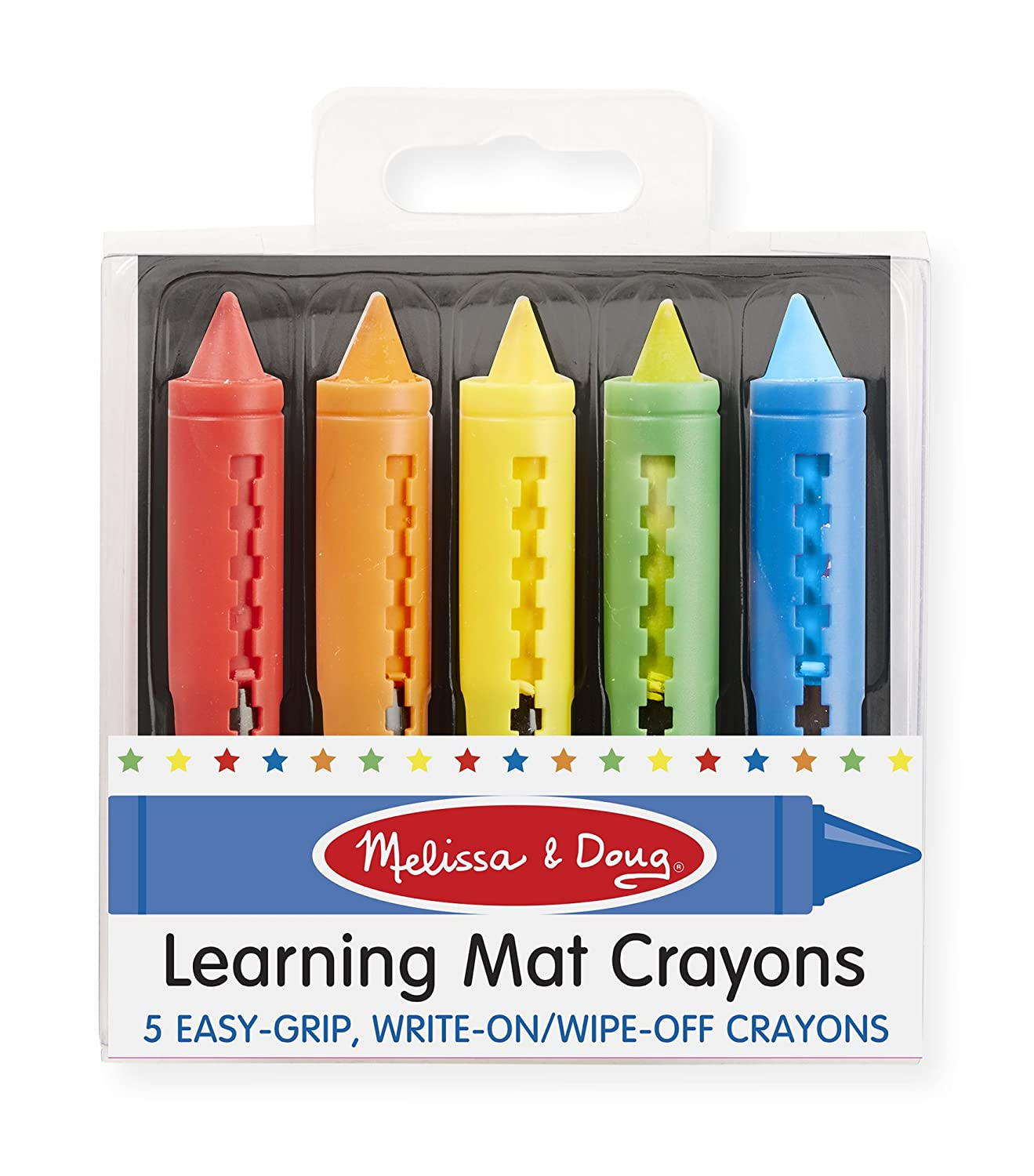 Melissa & Doug Learning Mat Crayons - 5 Colors Melissa and Doug 4279 reikos_0019522742AM_0027928 Miscellaneous Child