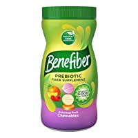 Benefiber Daily Prebiotic Fiber Supplement, Chewable Tablet for Digestive Health...
