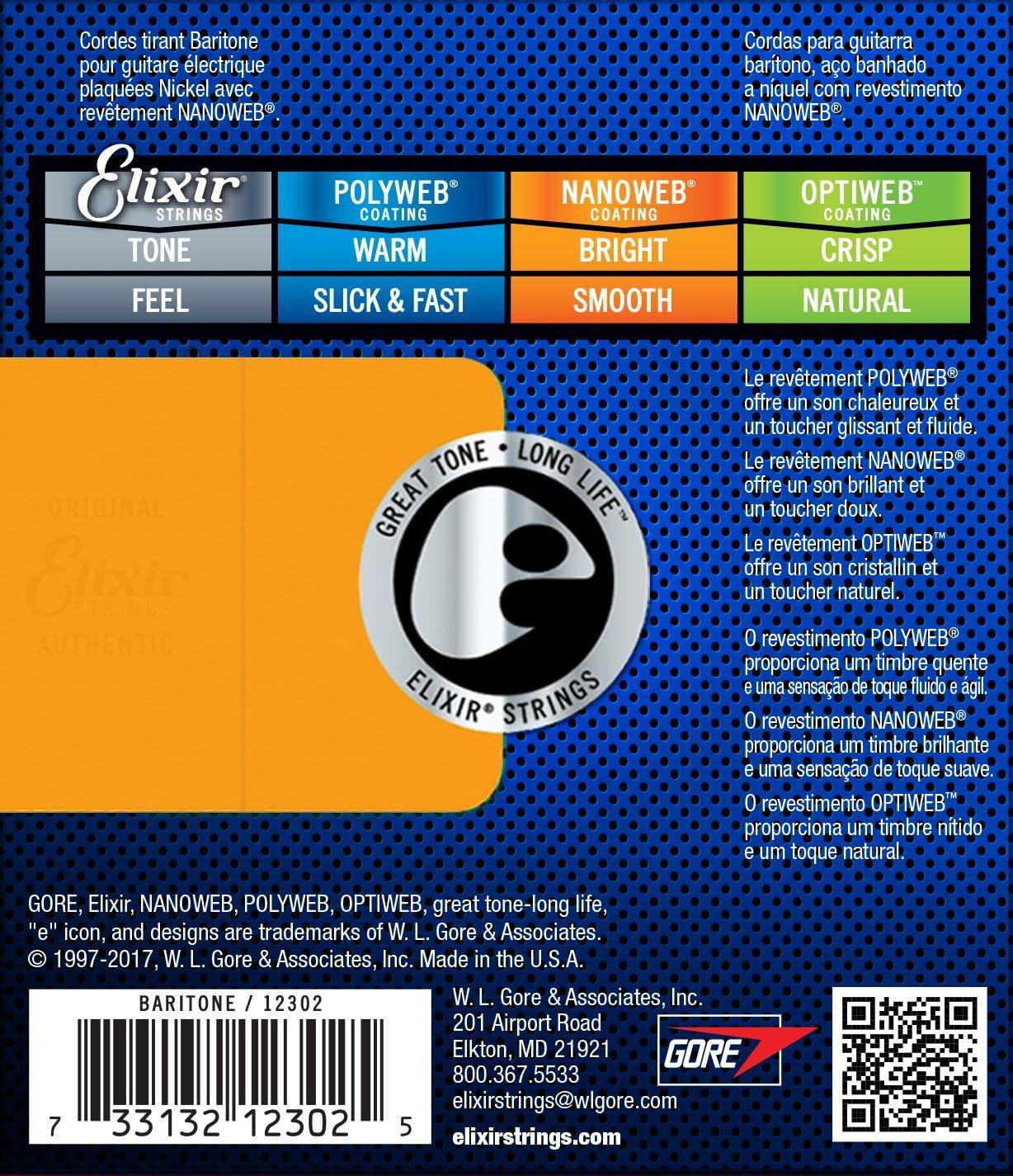 Elixir 12302 - Juego de cuerdas para guitarra eléctrica, .012 ...