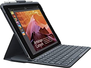 Logitech Slim Folio with Integrated Bluetooth Keyboard for iPad (5th and 6th Generation) Black