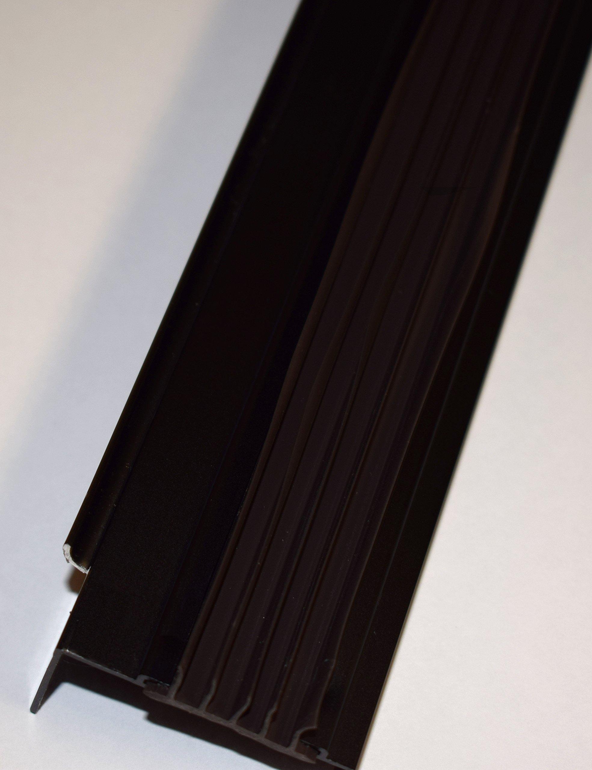 """Door Bottom Sweep -Long Fingered - 35 3/4"""" Long - Bronze - for 1 3/4"""" door"""