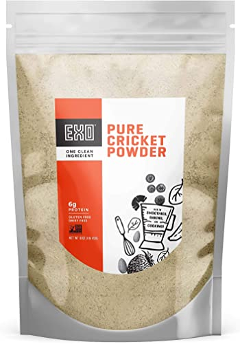 Exo Pure Cricket Protein Powder, 1 Pound, Low Carb, Dairy Free, Gluten Free Packaging May Vary