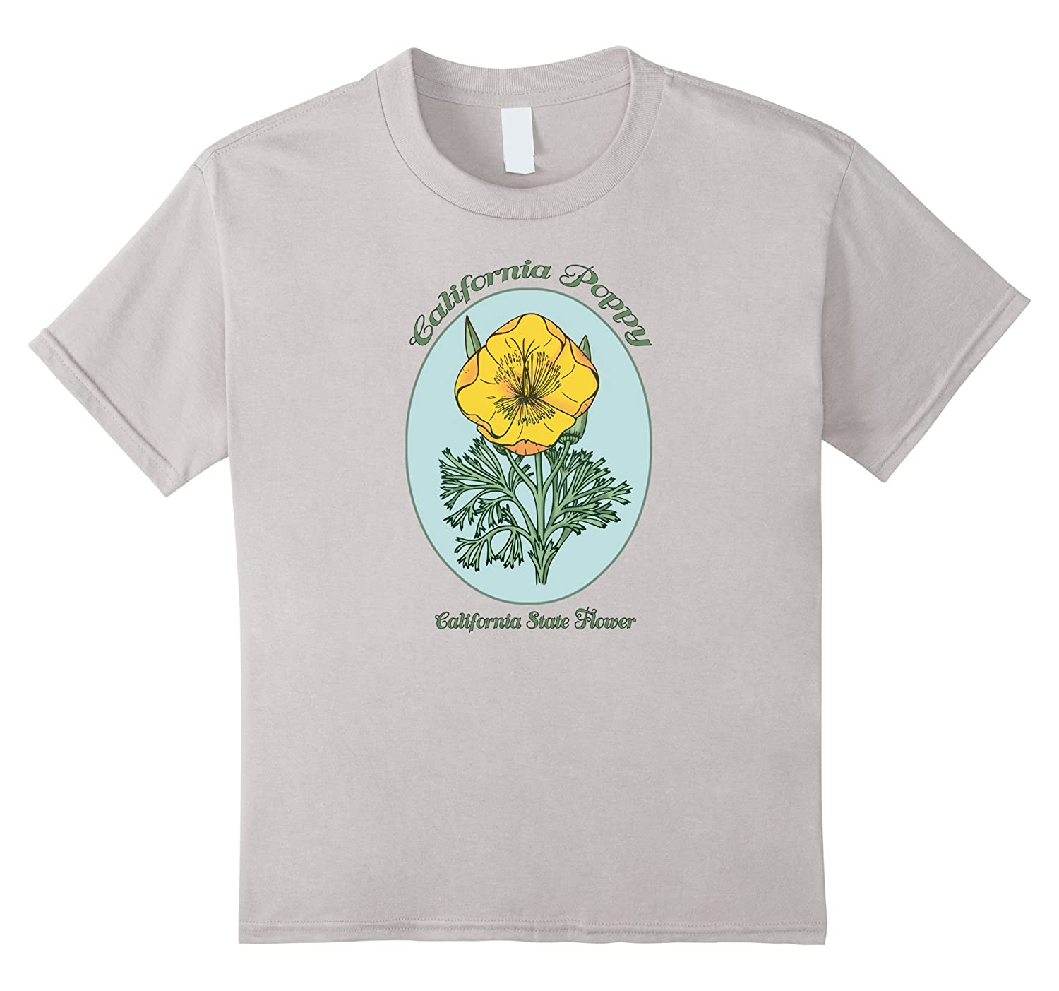 Amazon California Poppy State Flower Classic Retro T Shirt