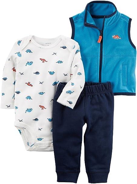 Amazon.com: Del Carter bebé Boys 3 piezas Dino Print Little ...