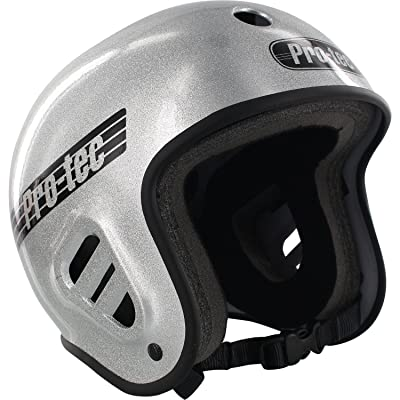 "ProTec Full Cut Skate Silver Flake Full Cut Skate Helmet - Medium / 22"" - 22.8"": Toys & Games"
