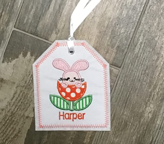 Amazon easter basket personalized embroidered gift tag easter easter basket personalized embroidered gift tag easter basket gift tag embroidered gift tag negle Image collections