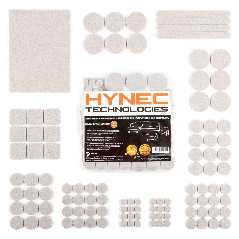 Hynec Premium Furniture Felt Pads MEDIUM Set 7 Different Sizes
