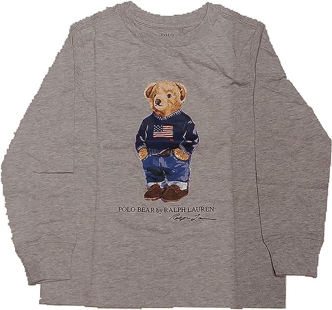 Polo Ralph Lauren - Bear tee TP TSH - Camiseta Manga Larga Oso (8 AÑOS): Amazon.es: Ropa y accesorios