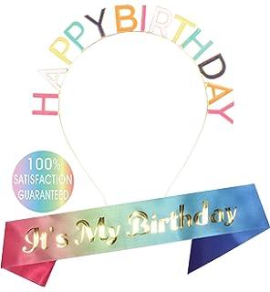 Amazon.com: 1 satén Everyday Fiesta de cumpleaños Sash ...