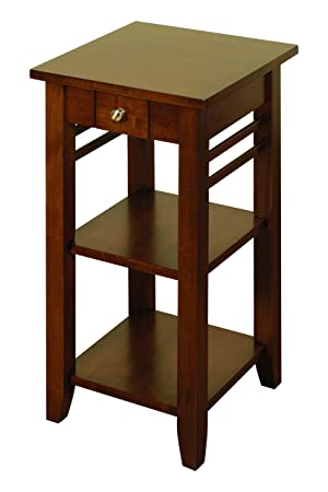 Hawaii Dark Solid Hardwood Telephone   Small Hall Table With 1 Drawer    Finish : Dark