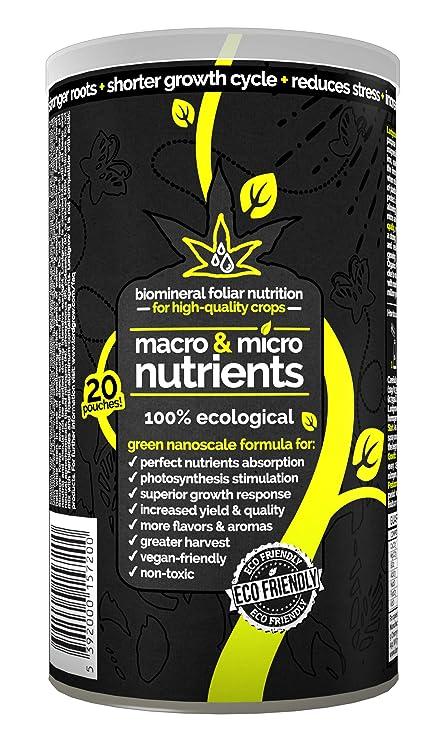 LORDGROW NUTRIENTS - Fertilizante premium de alto rendimiento. Bioestimulante 100% ecológico y natural. Cultivo Vegan o Cannabis. Potencia el crecimiento ...