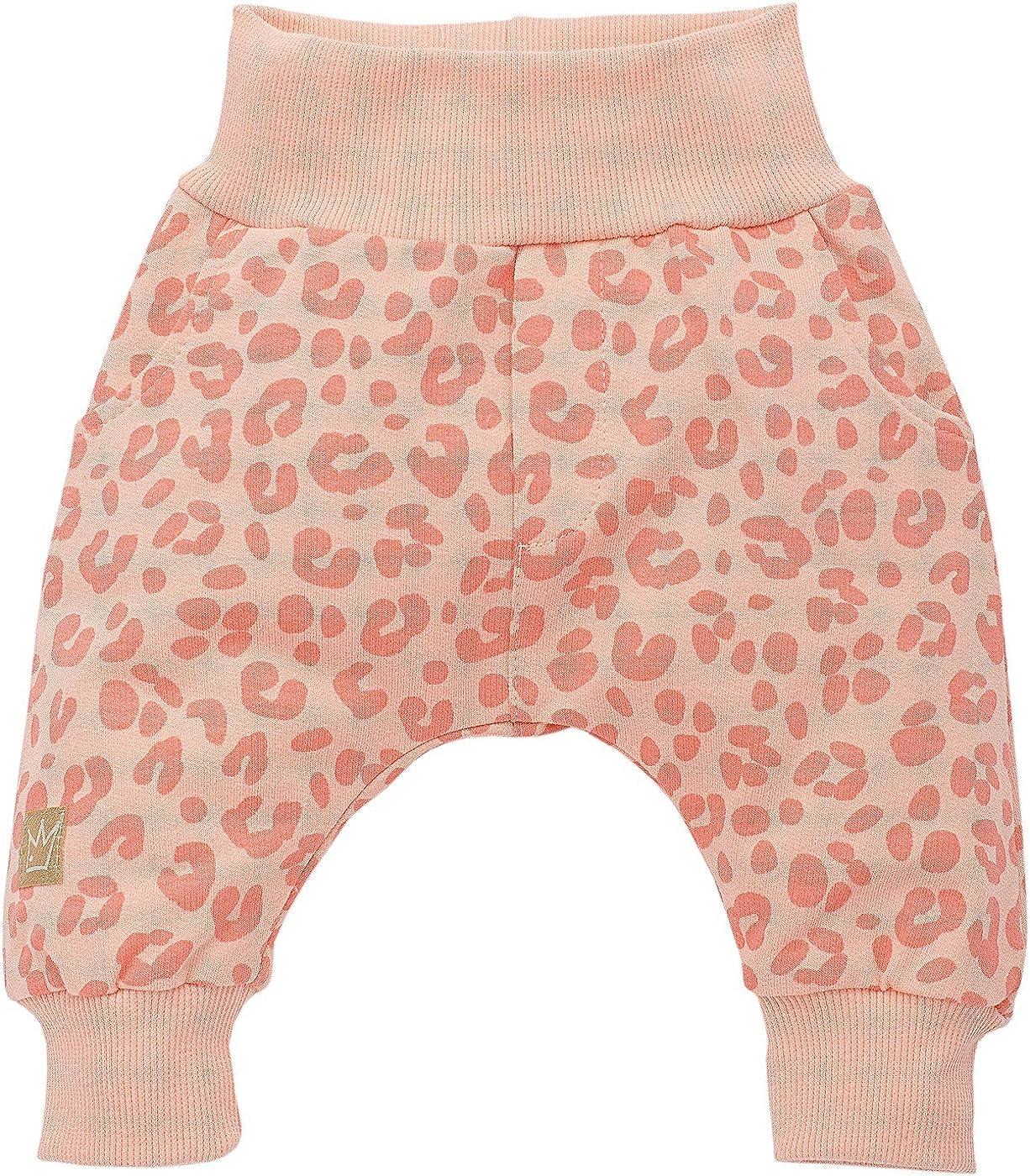 Pinokio Sweet Panther M/ädchen Baby Hose Girls Baumwolle- Leoparden Muster Apricot Koral Lachs Rose Jogginghose Haremshose Pumphose Schlupfhose- elastischer Bund