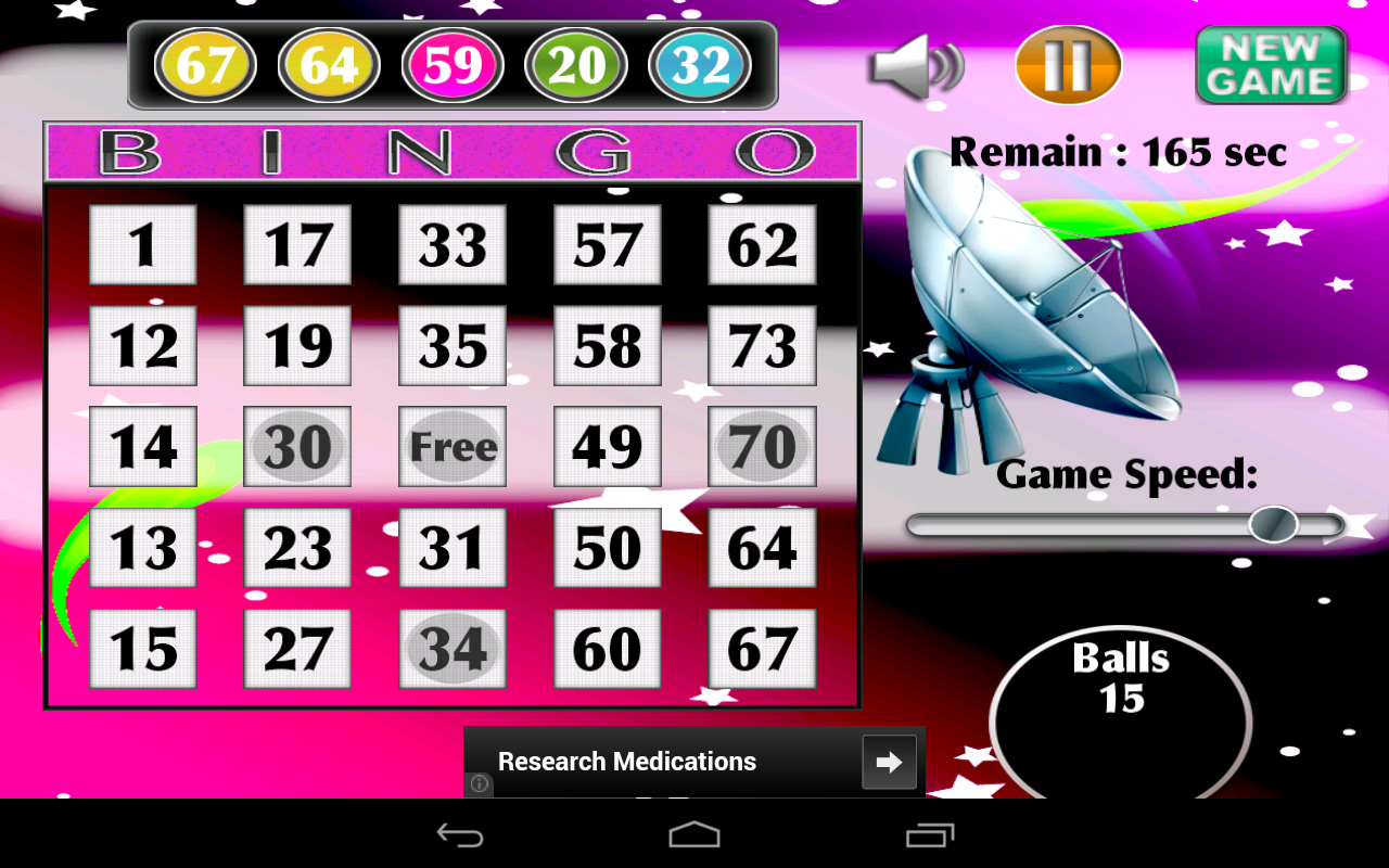 Satellite Bingo