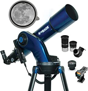 Meade Instruments – StarNavigator NG 102mm Aperture Computerized GoTo Refracting Astronomy Telescope w/AudioStar 30,000+ Object-Database & Audio Tours – Mount & Tripod Included – Amateur Astronomer