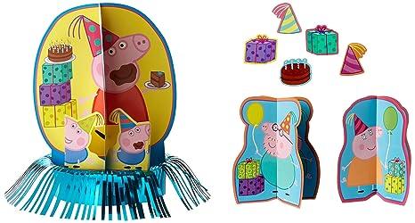 Amazon.com: Peppa Pig Kit de decoración de mesa, 281499 ...