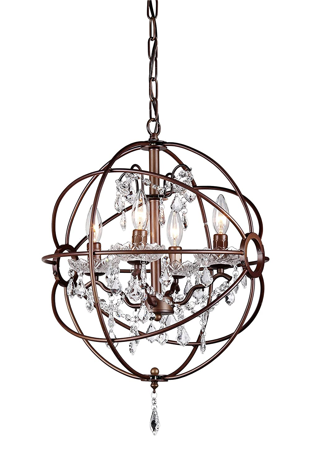 Whse of Tiffany RL8049-32AB Edwards 32-Inch Chandelier, Antique Bronze - -  Amazon.com - Whse Of Tiffany RL8049-32AB Edwards 32-Inch Chandelier, Antique