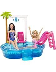Barbie Barbie Glam Pool Playset, 14 inches