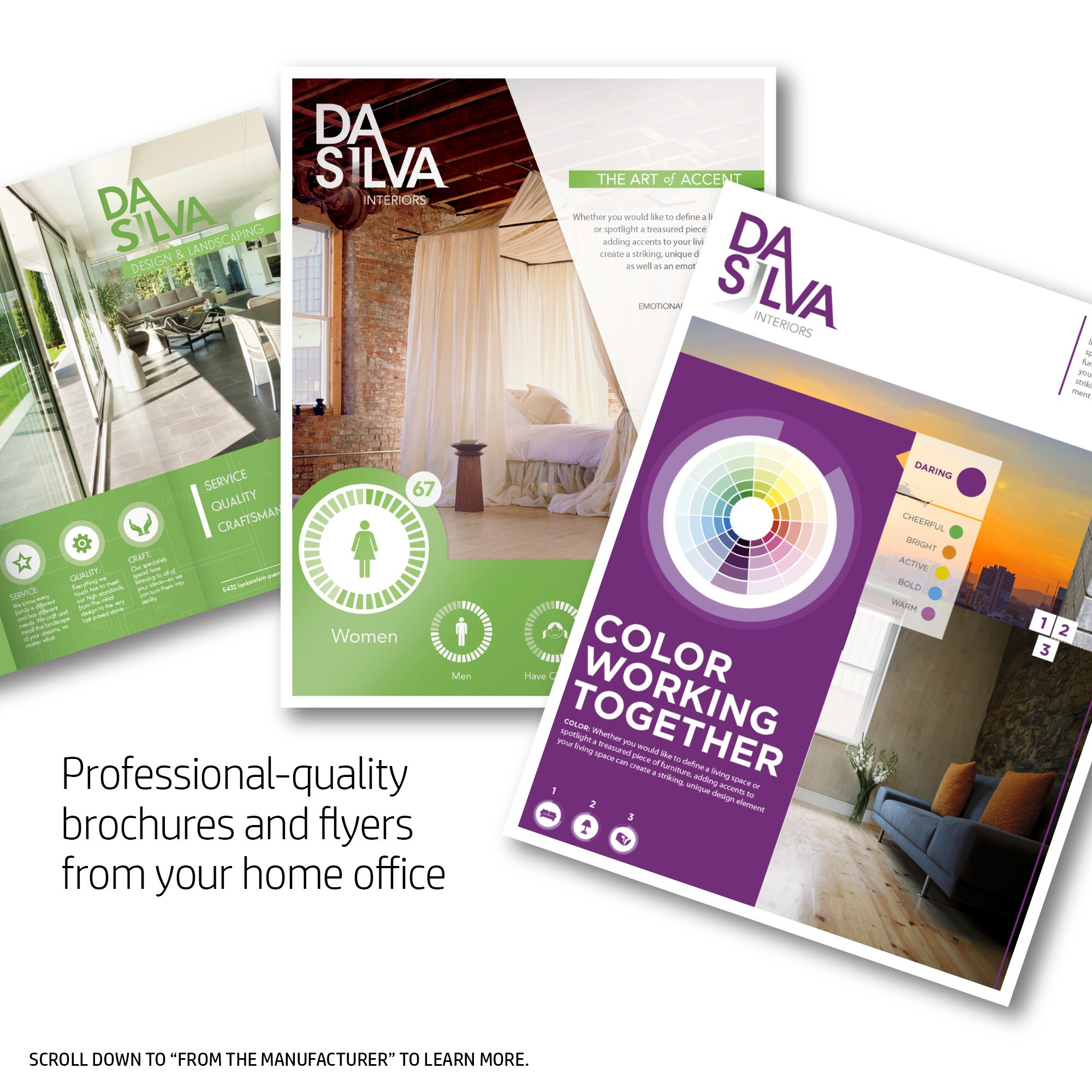 HP Q8824A Brochure Paper for Laser Printer, Matte, 8.5x11, 100 Sheets by HP (Image #3)