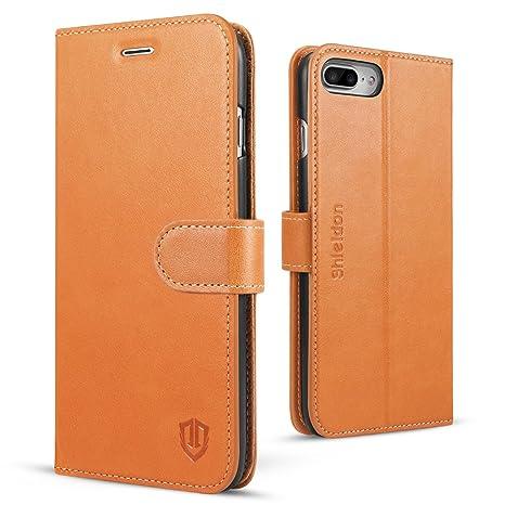 custodia iphone 8 plus portafoglio pelle