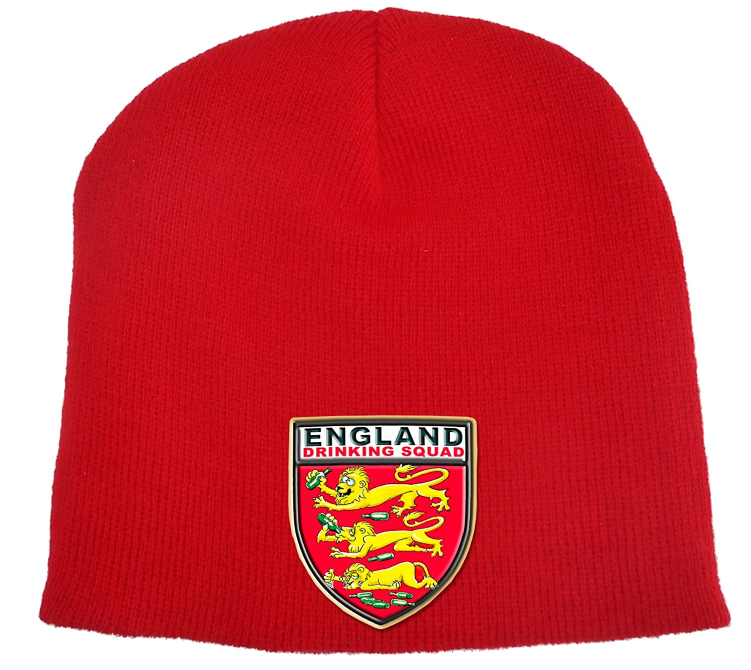 d31575a3475 England Football Beanie HAT. Funny Three Lions!  Amazon.co.uk  Clothing