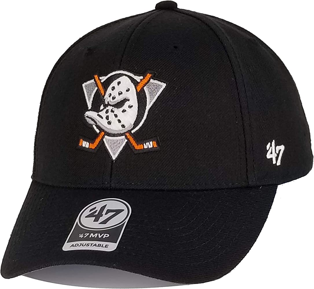 47 Brand Forty Seven Anaheim Ducks Curcuit NHL MVP DP Curved Visor Snapback Cap