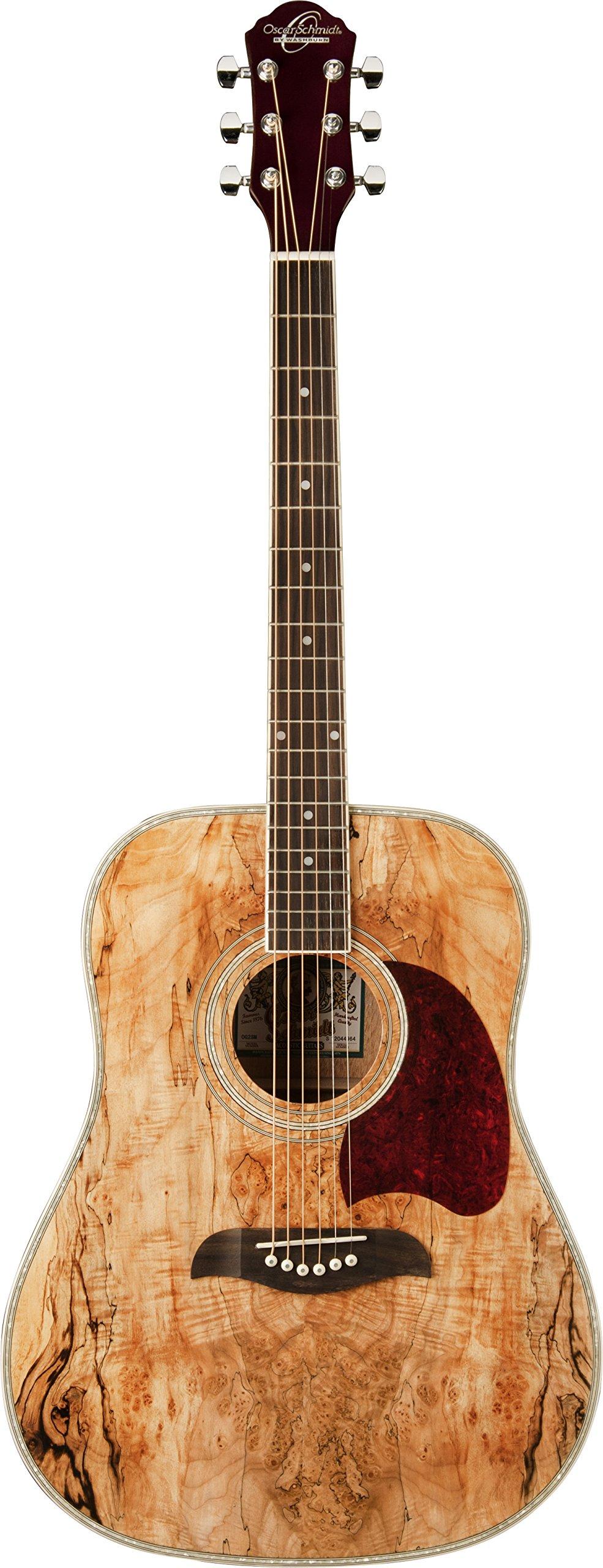Oscar Schmidt OG2SM-R-U Acoustic Guitar - Spalted Maple by Oscar Schmidt