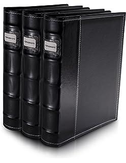 Superieur Bellagio Italia Black Leather Disc Storage Binder Perfect For CDs, DVDs,  Blu