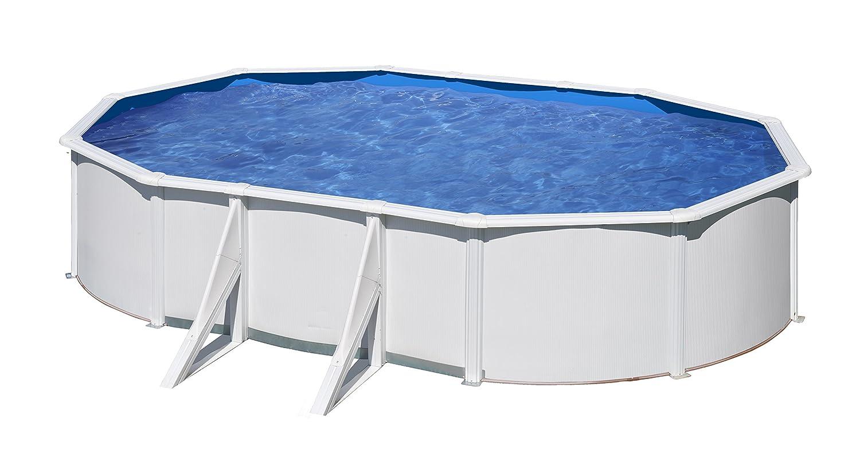 Gre KITPROV613- Piscina Bora Bora desmontable ovalada de acero color blanco 610x375x120 cm: Amazon.es: Jardín
