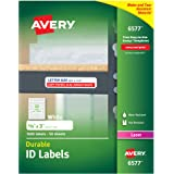 "Avery Durable White Cover Up ID Labels for Laser Printers, 0.625"" x 3"", Pack of 1600 (6577)"