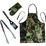 Camo Barbecue Tool Set with Apron & Mitt
