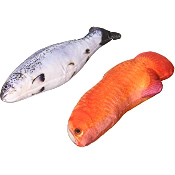 Cat Toys,Catnip Simulated fluffy fish,artificial fish toy for cat,Clear original printing,harmless and chemical free.Favorite toy for pets such as cats ...