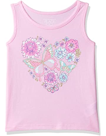 9f4006f68d1bd The Children s Place Baby Girls Novelty Graphic Matchable Tank Tops