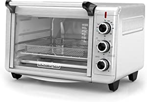 BLACK+DECKER Crisp 'N Bake Air Fry Toaster Oven, Stainless Steel, TO3215SS, 6 Slice (Renewed)