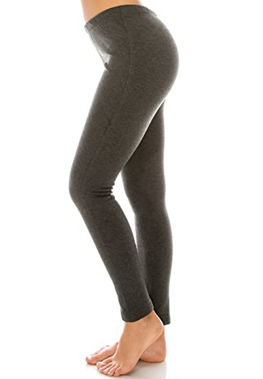 c08053d1853 EttelLut Heavy Weight Polar Fleece Lined Brushed Leggings for Women  Charcoal L