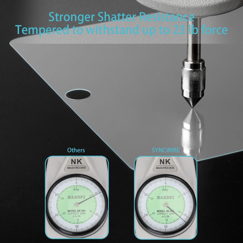 Syncwire Cristal Templado Protector Pantalla HD para el Nuevo iPad de 9,7