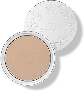 product image for 100% PURE Powder Foundation (Fruit Pigmented), Golden Peach, Matte Finish, Absorbs Oil, Anti-Aging, Helps Fight Acne, Natural, Vegan Makeup (Medium-Tan Shade w/Neutral Undertones) - 0.32 Oz