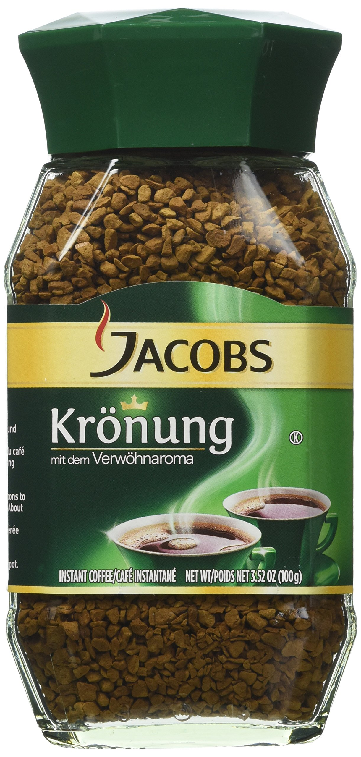 2 Pack of Jacobs Kronung Instant Coffee 3.5oz/100g