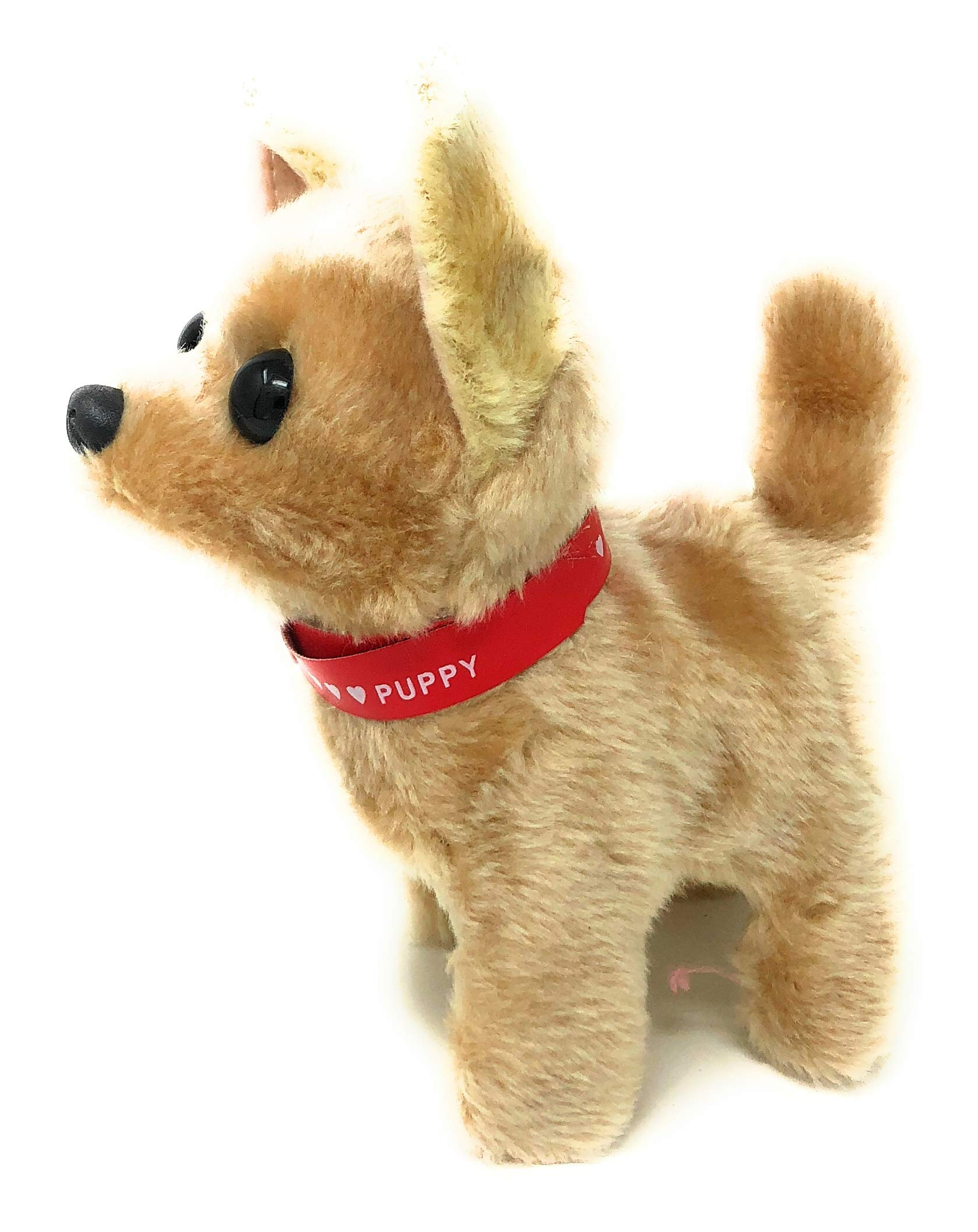 Walking Toy Puppy | Battery Operated Walking, Tail-Wagging and Mechanical Barking Electronic PIush Animal Dog by JoyABit (Image #2)