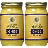 Ancient Organics, 100% オーガニック GHEE-16 FL OZ (ギー) 473.2 ml (2個セット) [並行輸入品]