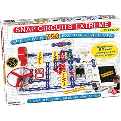 Snap Circuits Extreme SC-750 Electronics Exploration Kit | Over 750 STEM Projects | 4-Color Project Manual | 80+ Snap Modules | Unlimited Fun: Toys & Games