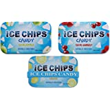 ICE CHIPS Candy 3 Pack Assortment (Sour Apple, Sour Cherry, Lemon) - Includes BAND as shown
