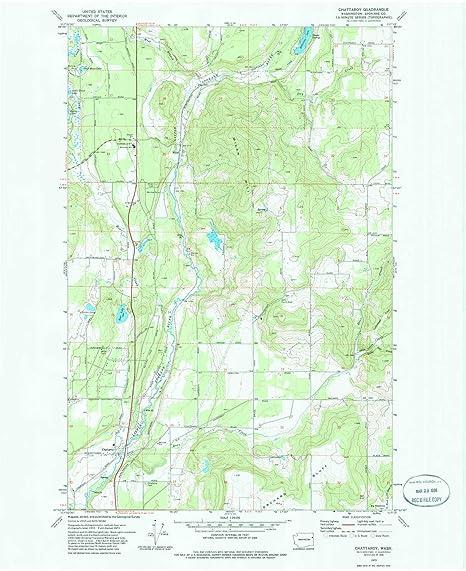 Amazon.com : YellowMaps Chattaroy WA topo map, 1:24000 Scale, 7.5 X on