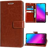 RidivishN® Samsung Galaxy M20 Flip Cover Case [Shock Proof,Magnetic Closure,360 Degree Dual Protection] Flip Covers Cases for Samsung Galaxy m20 (Light Brown)