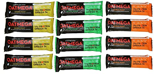 Oatmega Grass-Fed whey Bars Variety 8 of Each Flavor 24 Bars