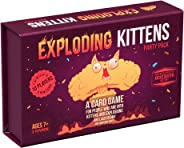 Exploding Kittens Card Game - Party Pack for Up to 10 Players - Family-Friendly Party Games - Card Games for Adults, Teens & Kids