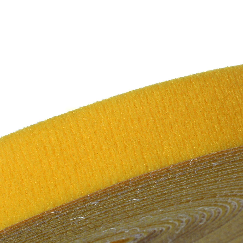 HIMRY 25/m x 20/mm Velcro Presilla Libre zuschneidbare semianilla Reutilizable Velcro Cinta Rollo Cable Manager Cables anordnen Fijar Velcro Presilla patchkabelbinder kxb5014/Red Rojo