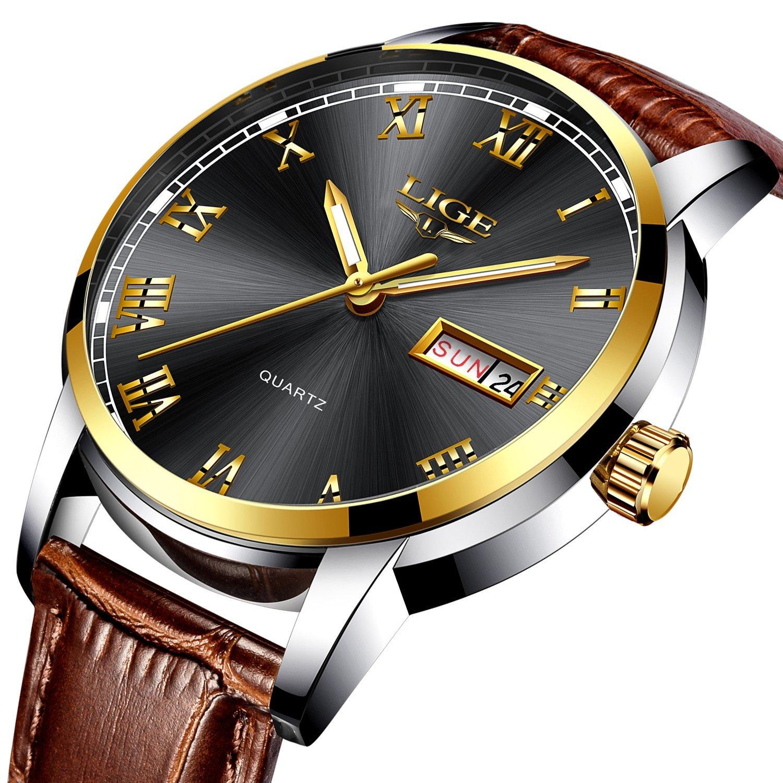 Reloj de Pulsera para Hombre, de Acero Inoxidable, clásico, de Lujo, Casual, con cronógrafo, Resistente al Agua, 30 m, de Moda, de Negocios, de Cuarzo