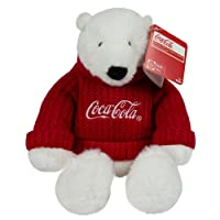 """Coca-Cola 8"""" Sweater Bear Plush 8 Inch"""